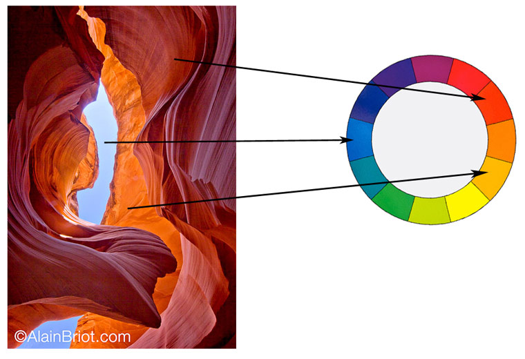 Example 1 Antelope Canyon And Sky An Of A Blue Red Split Complementary Color Harmony